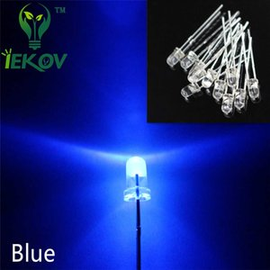 5000pcs lot High Quality 3MM Round Top Blue leds 3mm Ultra Bright LEDs light Emitting Diodes Electronic Components Wholesale