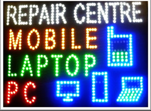 Hot Sale custom Graphics 19X19 Inch indoor Ultra Bright flashing mobile pc laptop repair centre sign of led