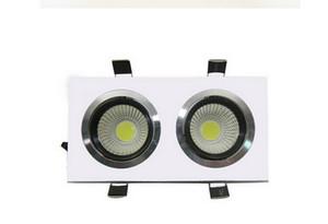 Yap Yüksek süper Square Çift 20W Sıcak Beyaz Soğuk Beyaz 2x10W COB LED armatür, Led Tavan Lambası ışık AC85-265V