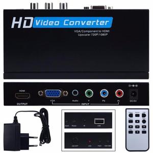Freeshipping VGA / Bestandteil YPbPr zum HDMI Upscaler HD videokonverter-Adapter 720p / 1080p VGA zum HDM Adapter für Spiel-Spielerlaptop