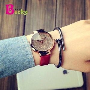 мода новых высокого качества кварца женщины Wacth кожа женщины наручные часы