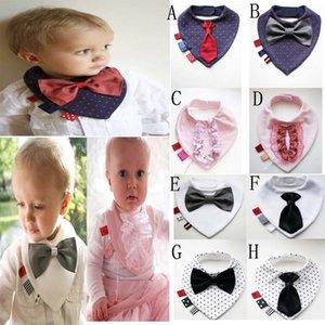 8 estilos Baby Girls Boys Cute pajarita Baberos Saliva Toalla samgamibaby Niños Infantil Toallas Kids Dot Lace Tie Burp Cloths Niños Baberos de algodón