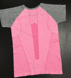 Sports à manches courtes t-shirt fitness course à pied à sec femme sport yoga à manches courtes stretch vêtements serrés transpiration respirante