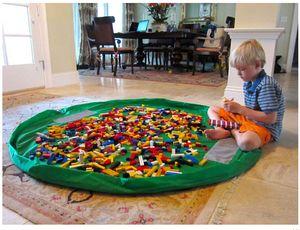 Большие сумки для хранения детских игрушек Оксфордские сумки для домашнего хозяйства сумка для хранения детских игрушек Мешочек для быстрого хранения 2 цвета синий розовый Ручная стирка