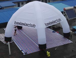 spedizione gratuita bianco 5 gambe panno di copertura gonfiabile ragno tenda per il partito, decorazione evento con logo