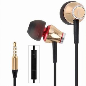 New JBM MJ900 Gold wired super bass earphones metal stereo headset fone de ouvido Auriculares with microphone