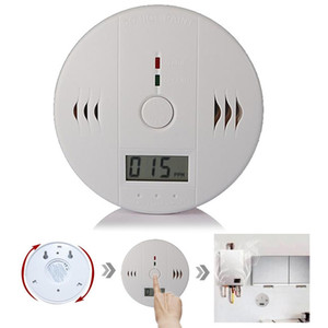 High Sensitive Digital LCD Backlight Carbon Monoxide Detector Tester Poisoning CO Gas Sensor Alarm for Home Security Safety with Retail box
