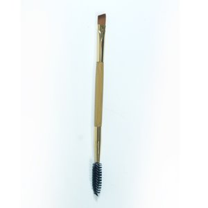 Wholesale- Newly Design 1PCS  Tools Bamboo Handle Double Eyebrow +Brush Comb for eyes  tools
