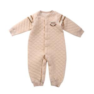 2017 nova chegada de alta qualidade roupas infantis macacão de bebê inverno clipe de algodão quente de manga comprida de escalada do bebê masculino roupas conjugadas