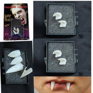 Зубы вампира 2 пары Классический душераздирающий Vampire Оборотни Клыки Зубные Для Halloween Scarecrow клыки вампира Клыки