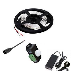 Pir motion sensörü led makara ışık şeridi 5m smd 5050 5630 300 led yatak ampuller