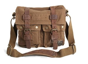 AKARMY authentique toile sac homme sac sac à bandoulière mode sac de loisirs rétro diagonale décontractée paquet
