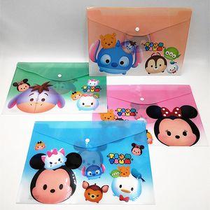 24 pcs lot Tsum Tsum Cartoon A4 plastic Waterproof Document pocket bill pouch file Pen Filing Products Pocket Folder Office & School Supplie