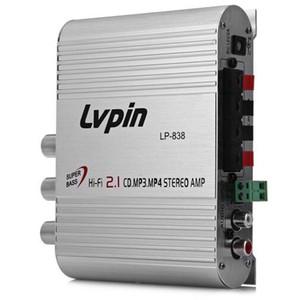 NUOVO LVPIN LP-838 Mini Hi-Fi CD 2.1 MP3 Radio Car Auto Moto Home Audio Stereo Bass Speaker Amplificatore
