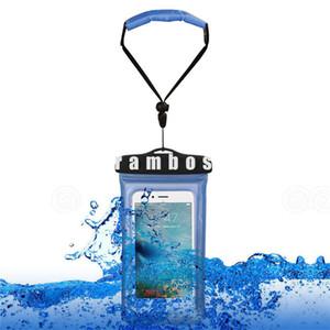 2016 Underwater Waterproof Phones Bag Caso Capa Bolsa com Flutuante Wrist Strap para Samsung Galaxy S6 borda plus / s7 para lenovo k4 nota