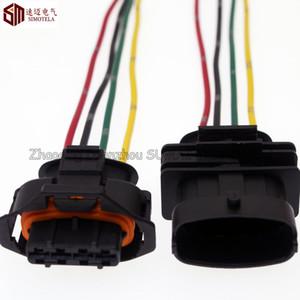 4Pin ECU Auto conector do sensor de taxa de fluxo de ar, carga do eixo / tomada de pressão de entrada, Auto plug à prova d 'água para o conector Bosch
