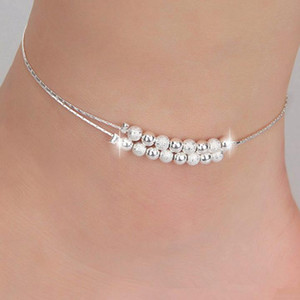 Top Grade Silver Anklet Bracelet Hot Sale Fashion Link Chain Anklets For Women Girl Foot Bracelets Jewelry Wholesale Free Shipping0339WH