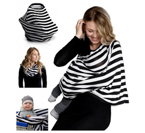 NEW Multi-Use Stretchy Infinity Scarf Baby Car Seat Cover Canopy Nursing Cover Breastfeeding Shopping Cart Cover