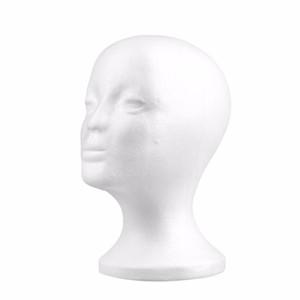 Weibliche Styroporperückenköpfe Schaum-Mannequin-Männchen-Kopf-vorbildliches Perücken-Haar-Glas-Glas-Hut-Anzeige