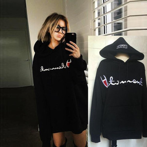 Fashion VETEMENTS Letter Print Hooded sweater with the oversize letter embroidered men and women plus cashmere loose thick hoodies