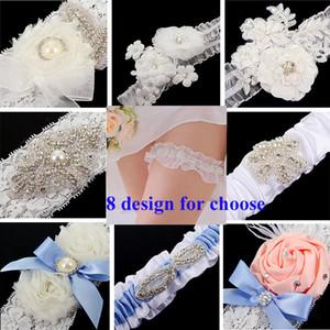 Freies Verschiffen-Spitze Braut Garters 8 Entwurf für wählen 2015 preiswertes reizvolles mit Kristallkorn-Hochzeits-Bein-Halter-Brautzusatz TYC005
