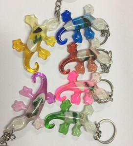 Envío gratis 12 piezas cool lagarto estilo vogue colorido moda llavero