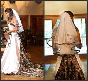 Dos capas Camo Velos de novia precio barato 2020 del diseño del estilo atractivo simple Unqiue envío libre por encargo caliente de las ventas de alta calidad