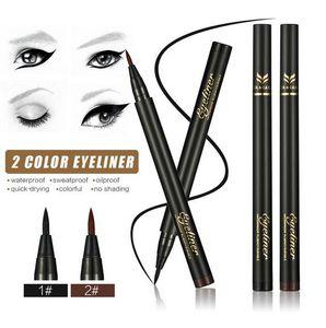 HUAMIANLI siyah kahverengi makyaj Eyeliner Likit Eyeliner Gölge Su geçirmez Kalem Pencile 7g Makyaj Aracı