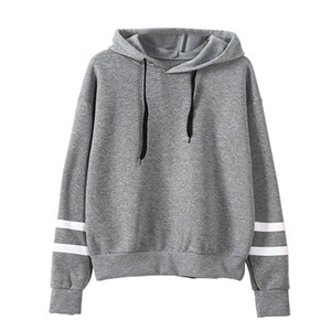Automne Hooeded T-Shirt Femme Broderie Fleur manches longues Pull Streetwear Toison Hoodies