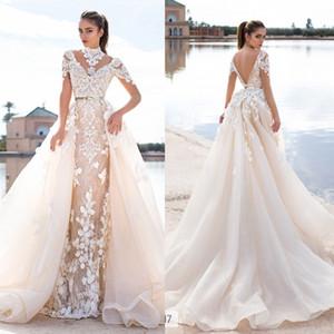 Llorenzorossib Ridal Vestidos de novia Wish Sash Backless atractivo por encargo vestidos de novia Applique desmontable sirena vestido de novia