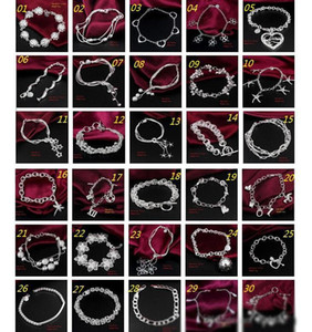 30PCS Lot Mix Order Wholesale 925 Sterling Silver Plated Fashion Link Chain Bracelets Jewelry
