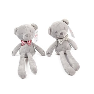 2017 new children selling baby doll baby two-color bow to appease doll baby sleep with plush toys