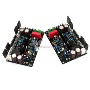 Freeshipping DC Amplifier 35V 55V 470UF 100V 200W+200W Superpower Amplifier Board A Pair