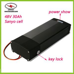 Ion de litio bicicleta eléctrica de la batería de 48V 30Ah bicicleta eléctrica Li baterías con montado en rack vía trasera + 5V puerto USB