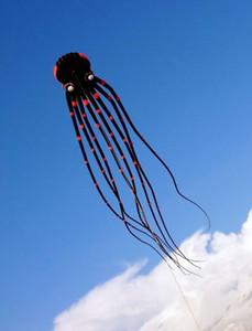 occhi classici 3D 15m Nero 1 Line Stunt Parafoil Octopus POWER Sport Kite