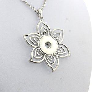 Унисекс преувеличены цветок 18 мм Оснастки кнопка ожерелья женщина чешские ожерелья подвески с бисером женщин шеи Ne354
