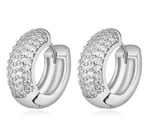 Orecchini per le donne di lusso di alta qualità zircone 18 k placcato oro cerchio hoop huggie orecchini gioielli trasporto libero all'ingrosso ter016