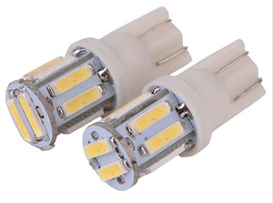 10 unids / 1 lote T10 12 V Colorido 10 SMD 7020 LED 194 168 W5W Cuña Del Coche Luz de Cola Lateral de la Matrícula Super Brillante Bombilla Blanca