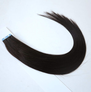 Tape in Skin Human Hair Extensions، Tape Hair Extensions، 40pcs / bag 100g، 50g / Bag