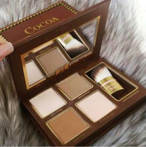 العلامة التجارية Highlightsers COCOA Contour Kit Palette Nude Color Cosmetics Face Concealer Makeup شوكولاته ظلال العيون مع كونتور Buki Brush