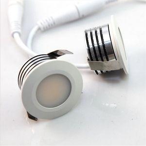 10 * MINI 3W COB LED Downlight pode ser escurecido AC110V / 220V LED iluminação interior3W LED recesso focos branco / branco quente CERosh