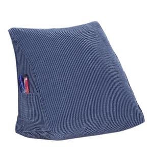 Fluffy Firm Down Alternative gefüllte Dreieck Keil Kissen Kissen für Bett Sofa Rückenlehne lesen, Cord, Packung mit 1, einfarbig