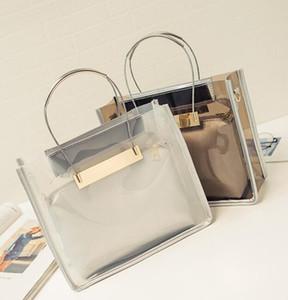 2016 Fashion Handbag + chain Shoulder bag Borse da donna nuove Borse di design trasparenti Borse a tracolla in pelle PU più belle 4 colori