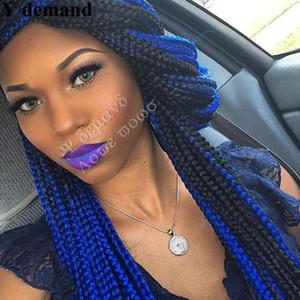 """Blau, Rosa, X-Druck Crochet Braid Verlängerung Lila Ultra-Braid 82"""" 165G 3pcs / lots synthetisches Haar Für Geflechte Fasle Bulk-Jumbo Flechthaar"""