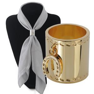 % 100 Bakır atkı aksesuarları takı 24k altın kaplamalı silindirik Silk atkı toka için iplik atkı klip broş