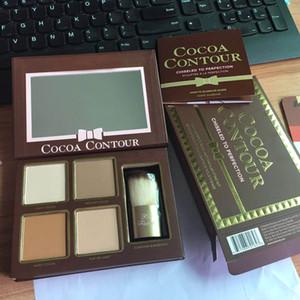 Contorno de cacao cincelado a la perfección Resaltadores Kit de contorno y resaltado facial 4 colores Envío de DHL gratis