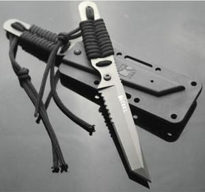 El más reciente de buceo Buceo Cuchillo fijo de la lámina con la envoltura de K ABS supervivencia al aire libre cuchillos que acampan con el paquete de la caja de papel al por menor