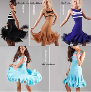 2018 Nuovo Arrivo Lady Ballroom Dance Dress Costume Latino Dance Latine Per Le Donne Vestidos De Baile Latino Tango / Rumba / Samba Gonna DQ3017