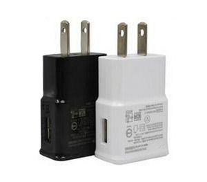 Carregadores de parede USB 5V 2A Viagem AC Home Carregador Adaptador UE Plug para Samsung Galaxy Nota 5 4 S7 S6 Edge Plus A8 A7 Branco Black Color