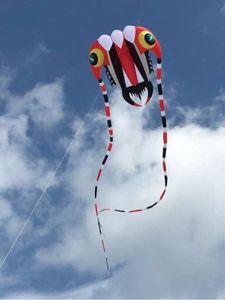 Huge 3D 7 square 1 Line Stunt Parafoil Trilobites POWER Sport Kite outdoor toys